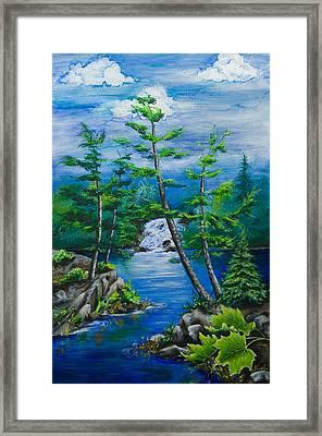 Bonnechere Falls Framed Print by Jill Alexander