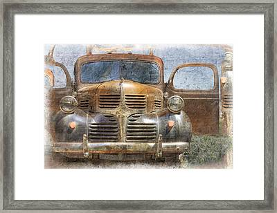 Bonnie And Clyde Framed Print by Debra and Dave Vanderlaan