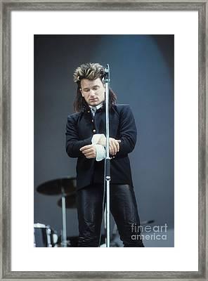 Bono 2 Framed Print by David Plastik