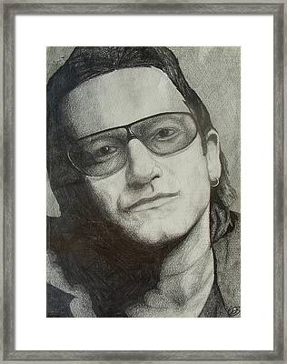 Bono Framed Print by Conor OBrien