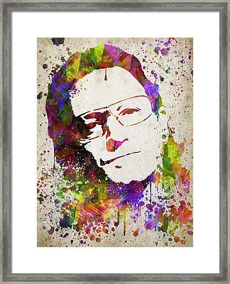 Bono In Color Framed Print by Aged Pixel