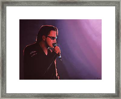 Bono U2 Framed Print by Paul Meijering