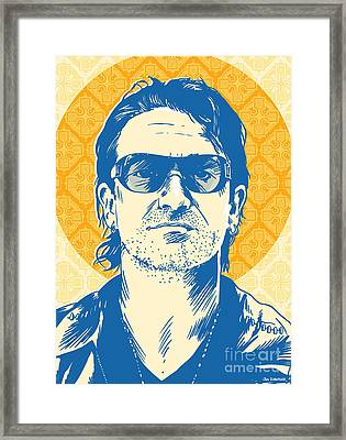 Bono Pop Art Framed Print by Jim Zahniser