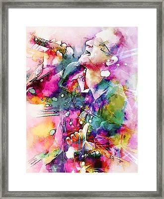Bono Singing Framed Print by Rosalina Atanasova