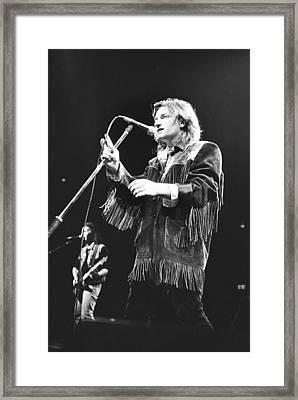 Bono/ U2 '86 #1 Framed Print by Chris Deutsch