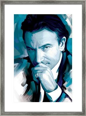 Bono U2 Artwork 4 Framed Print by Sheraz A
