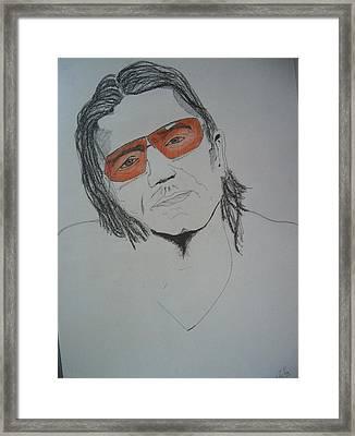 Bono Vox Framed Print by Manuel Charles Martin
