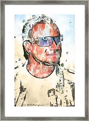 Bono Vox. Framed Print by Mike Rampino