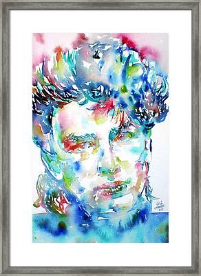 Bono Watercolor Portrait.1 Framed Print by Fabrizio Cassetta