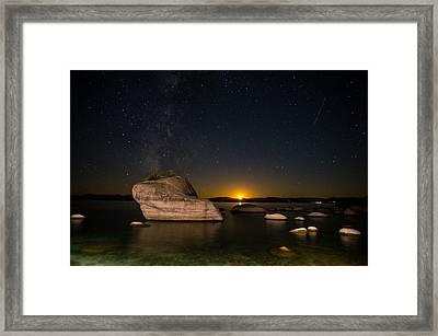Bonsai Rock Lake Tahoe Framed Print by Scott McGuire