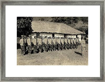Bontoc Soldiers Framed Print by American Philosophical Society