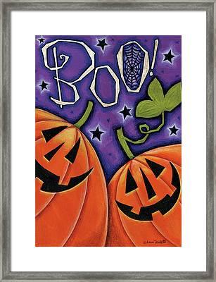 Boo Pumpkins Framed Print by Anne Tavoletti