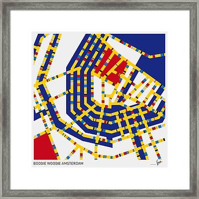 Boogie Woogie Amsterdam Framed Print by Chungkong Art