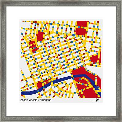 Boogie Woogie Melbourne Framed Print by Chungkong Art