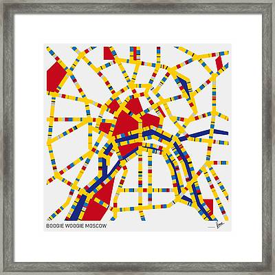 Boogie Woogie Moscow Framed Print by Chungkong Art