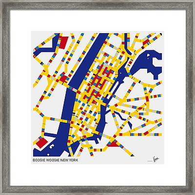 Boogie Woogie New York Framed Print by Chungkong Art