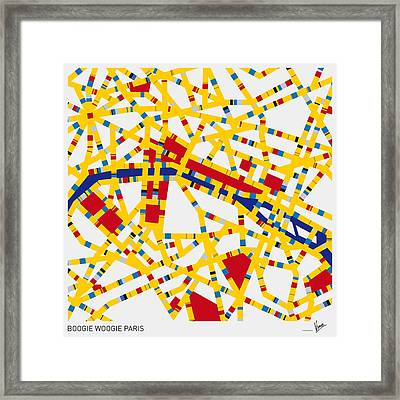 Boogie Woogie Paris Framed Print by Chungkong Art