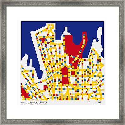 Boogie Woogie Sydney Framed Print by Chungkong Art