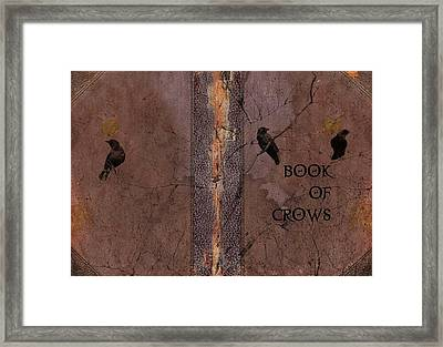 Book Of Crows Framed Print by Gothicolors Donna Snyder