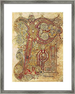 Book Of Kells. 8th-9th C. Chapter Framed Print by Everett