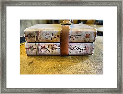 Book Strap 2 Framed Print by Cheryl Young