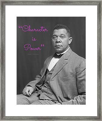 Booker T. Washington 1895 Framed Print by Padre Art