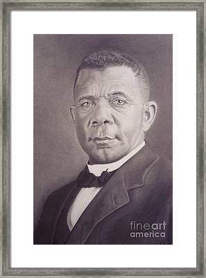 Booker T Washington Framed Print by Wil Golden