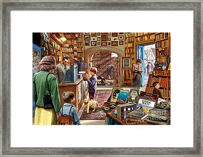 Bookshop Framed Print by Steve Crisp