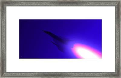 Boosted - Mirage - Blue Framed Print by Marcello Cicchini