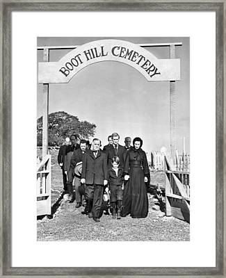 Boot Hill Cemetary Framed Print by Underwood Archives
