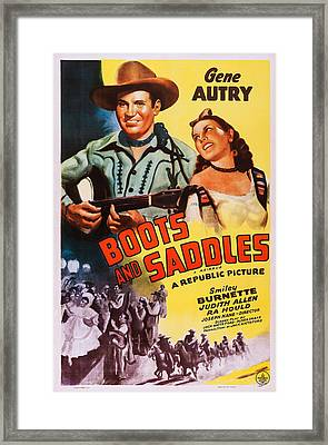 Boots And Saddles, Us Poster, Top Framed Print by Everett