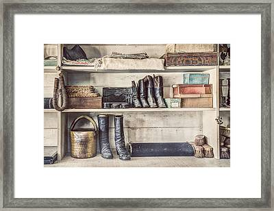 Boots And Things - Old General Store Framed Print by Gary Heller