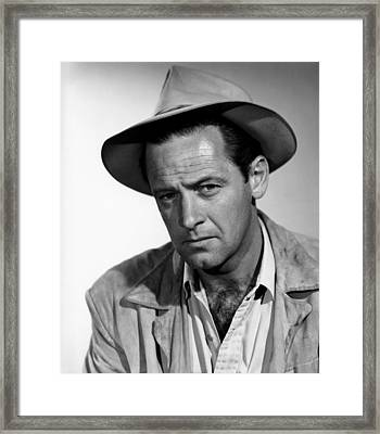 Boots Malone, William Holden, 1952 Framed Print by Everett