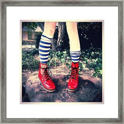 Boots Of Glory Framed Print by Kelly Jade King