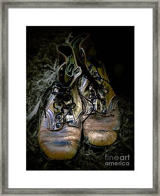 Boots That Grunt  Framed Print by Steven  Digman