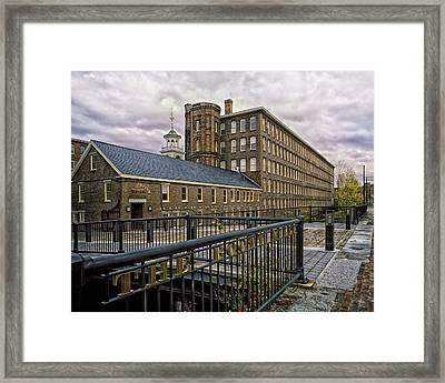 Boott Cotton Mills - Lowell Massachusetts Framed Print by Mountain Dreams