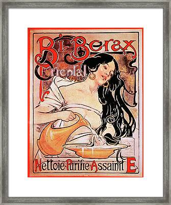 Borax Detergent Advert Framed Print by National Library Of Medicine