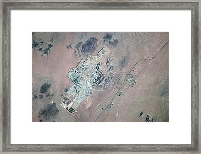 Borax Mine Framed Print by Nasa