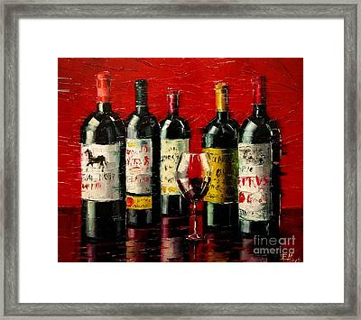Bordeaux Collection Framed Print by Mona Edulesco