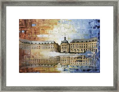Bordeaux Port Of The Moon Framed Print by Catf