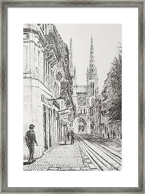 Bordeaux Framed Print by Vincent Alexander Booth