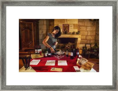 Bordeaux Wine Tasting Tour Framed Print by Georgia Fowler