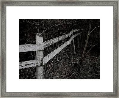 Borderline Framed Print by Odd Jeppesen