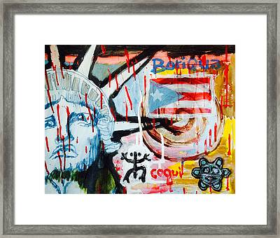 Boriqua Liberty Framed Print by Daniel P Cronin