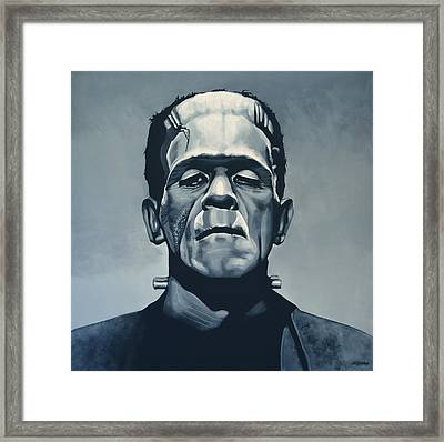 Boris Karloff As Frankenstein  Framed Print by Paul Meijering