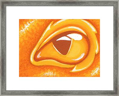 Born Of Fire's Golden Embers Framed Print by Elaina  Wagner