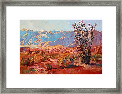 Ocotillo Gold Framed Print by Erin Hanson