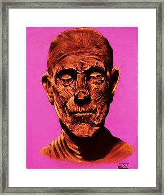 Borris 'the Mummy' Karloff Framed Print by Brent Andrew Doty