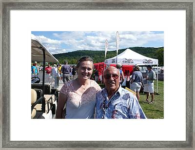 Borsos Anna Ruzsan With Sir Stirling Moss 2012 Framed Print by Anna Ruzsan