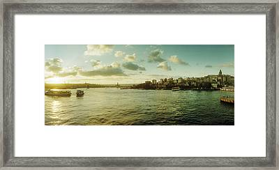 Bosphorus Strait At Sunset, Istanbul Framed Print by Panoramic Images
